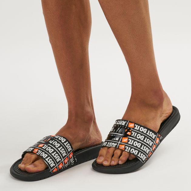 Nike Benassi Just Do It Print Slide Sandals  f8c0921fe