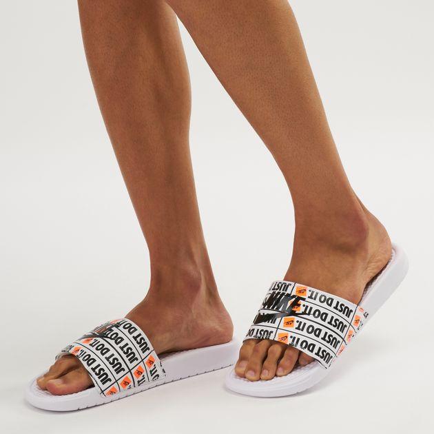 a2b49754f554 Nike Benassi Just Do It Print Slide Sandals
