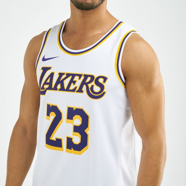 the latest c92bf a09eb Nike Men's NBA Los Angeles Lakers Lonzo Ball Swingman Home Jersey
