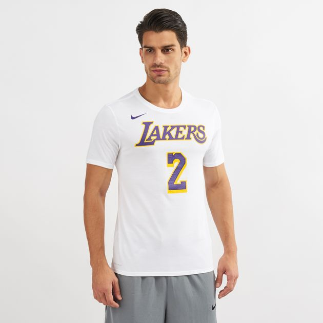 49bb9eeb Nike NBA Los Angeles Lakers Lonzo Ball Dri-FIT T-Shirt | T-Shirts ...
