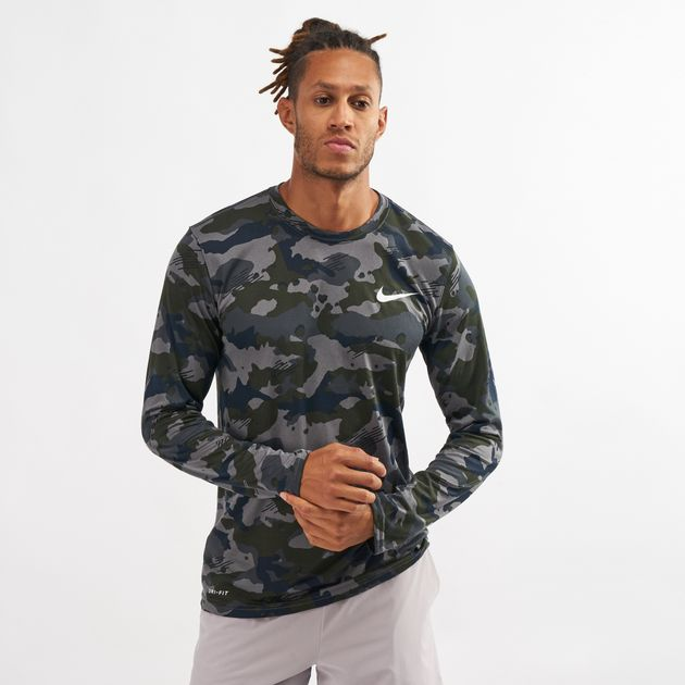 b57e7486fbecf9 Nike Dry Legend Long Sleeve Camo T-Shirt | T-Shirts | Tops ...