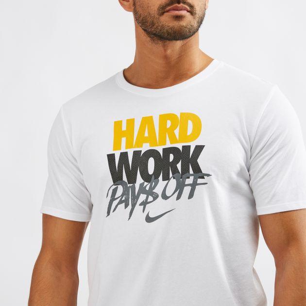 438215d95be50 Nike Dri-FIT Hard Work T-shirt   T-Shirts   Tops   Clothing   Mens   SSS