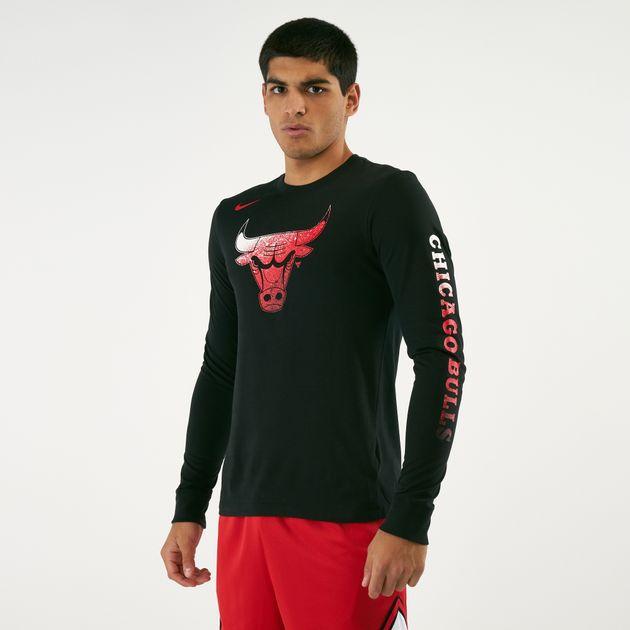 f26e91af5 Nike Men's NBA Chicago Bulls MZ Dry Logo Long Sleeve T-Shirt, 1600796