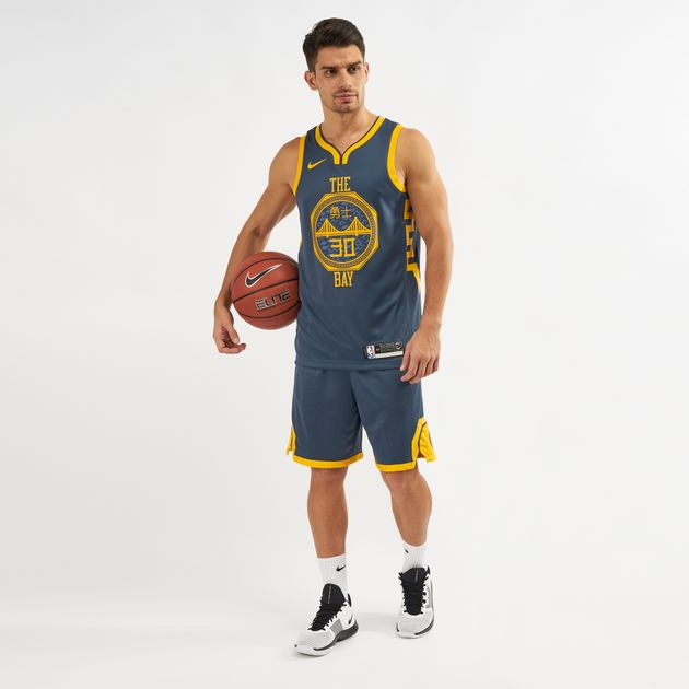 Nike NBA Golden State Warriors Swingman City Edition Shorts - 2018 ... 849e410c745