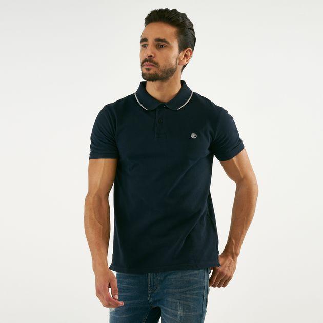 sfumature di moda di vendita caldo colore n brillante Timberland Men's Pique Slim Polo Shirt | Polo Shirts | Tops ...
