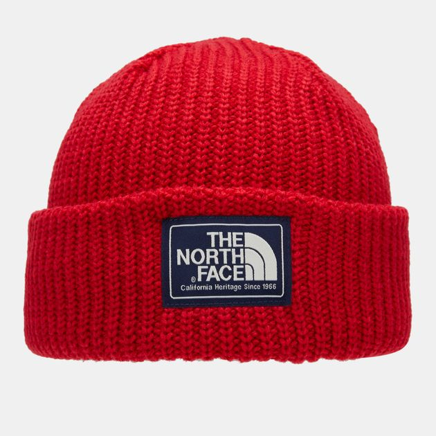 Shop Red The North Face Salty Dog Beanie  eb0b6461997