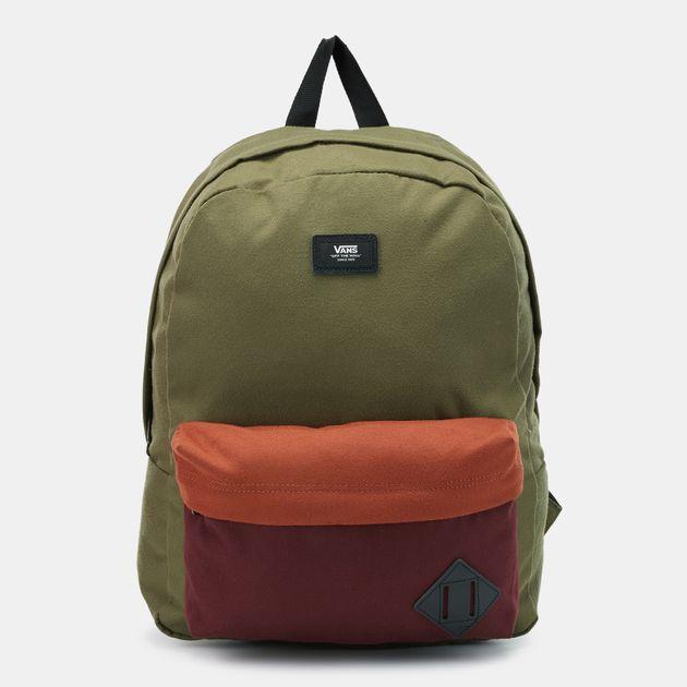 e9fc46c894b Shop Green Vans Old Skool II Backpack   Backpacks and Rucksacks ...