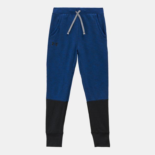 4e2d03fc6ed3a5 Shop Blue Under Armour Kids' Unstoppable Double Knit Jogger Pants ...
