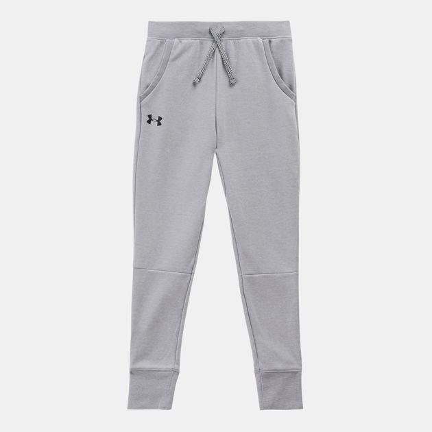 fac6acc7806dc1 Shop Grey Under Armour Kids' Unstoppable Double Knit Jogger Pants ...