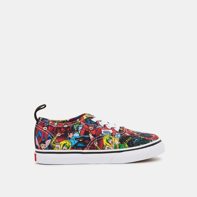 Vans Kids  x Marvel Authentic Elastic Lace Shoe  7dc8ae209