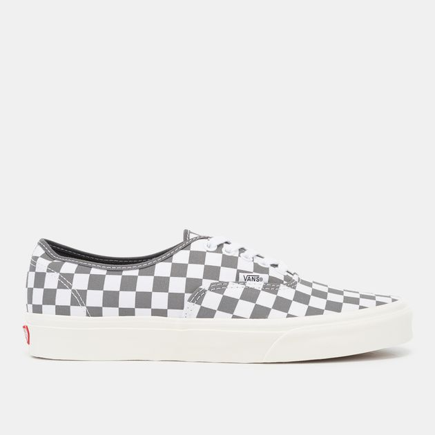 Shop Grey Vans Checkerboard Authentic Shoe  25a55abf6