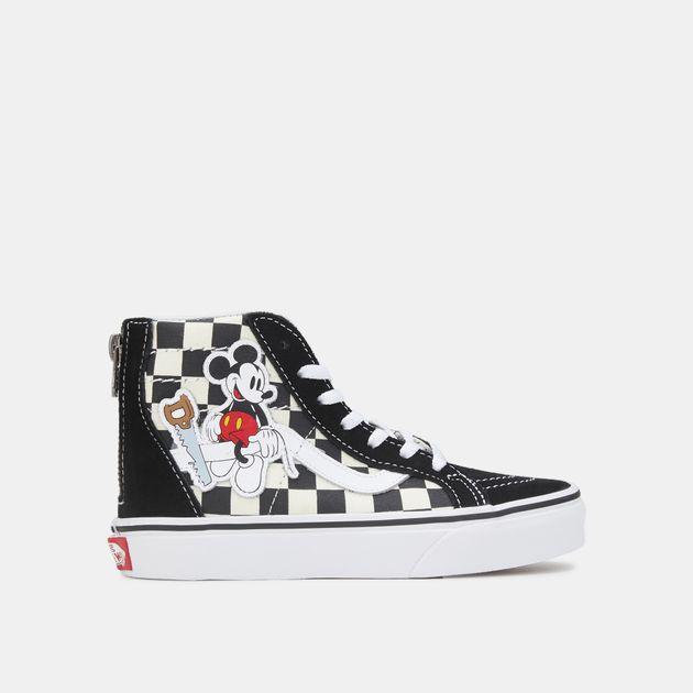 6016e610f40 Vans Kids  X Disney Mickey Mouse Sk8-Hi Zip Shoe