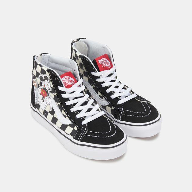 Vans Kids' x Disney Mickey Mouse SK8 Hi Zip Shoe   Sneakers