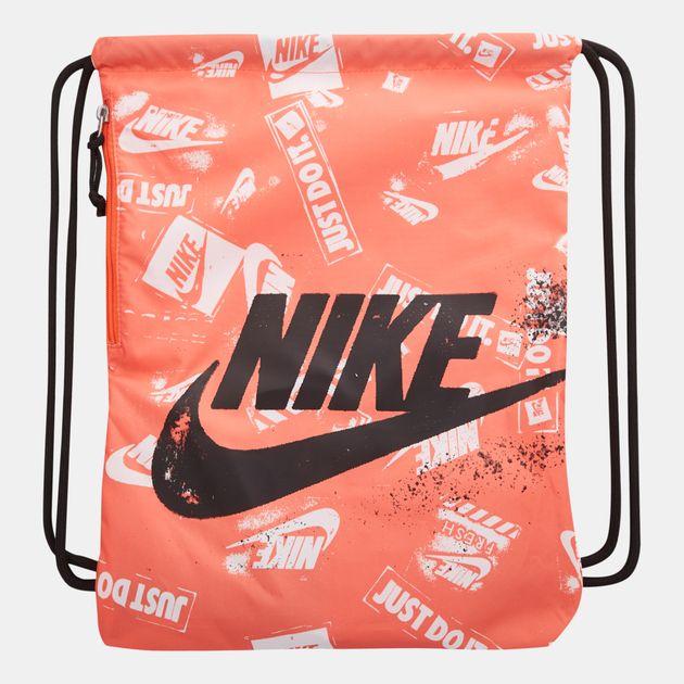 695c0c8405341 Nike Heritage Graphics Gymsack - Orange
