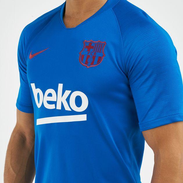 half off 1d46a 1f1a8 Nike Men's FC Barcelona Breathe Strike Football T-Shirt