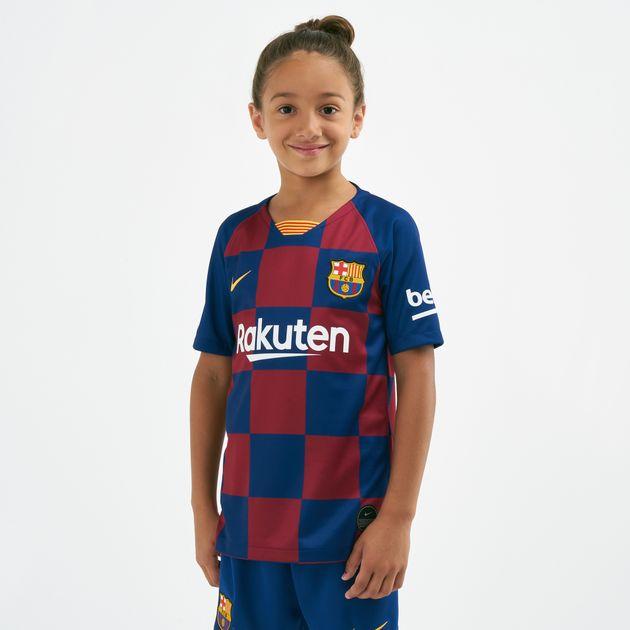Nike Kids' FC Barcelona Breathe Stadium Home Football Jersey - 2019/20  (Older Kids)