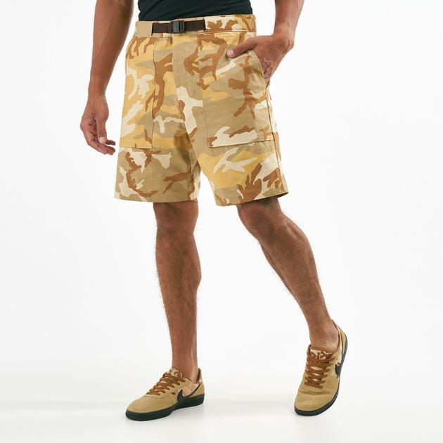 Shorts Women's Clothing Casual Fitness Fine Nike Cargo Shorts Tan Camo Womens Medium 8-10 Inseam 12 In