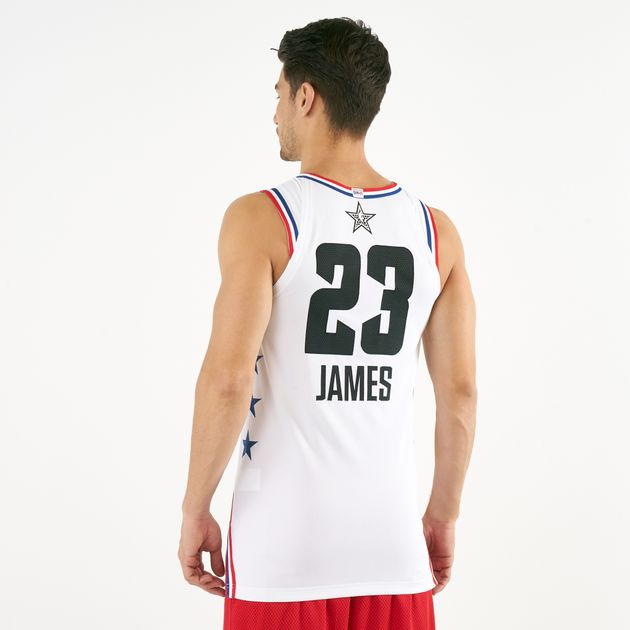 963743f49eaa77 Nike Men s NBA All Star Edition Authentic Jordan Connected LeBron James  Basketball Jersey