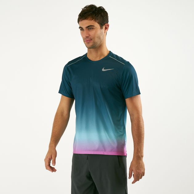 5b201dd4 Nike Men's Dri-FIT Miler Printed Running T-Shirt | T-Shirts | Tops ...