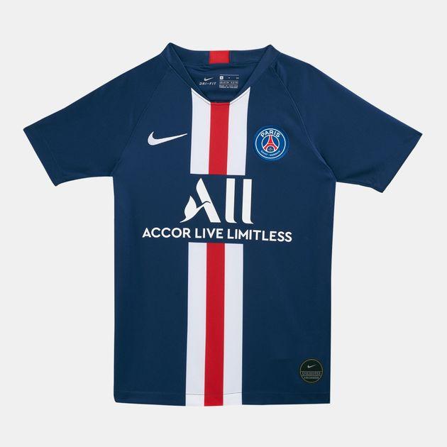 official photos 29110 4c993 Nike Kids' Paris Saint Germain Breathe Stadium Home T-Shirt (Older Kids)