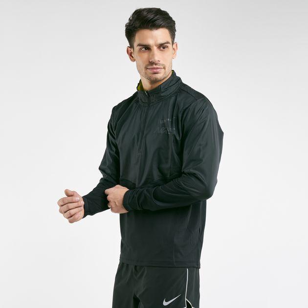 Nike Men's Element Half Zip Hybrid GX Long Sleeve T Shirt