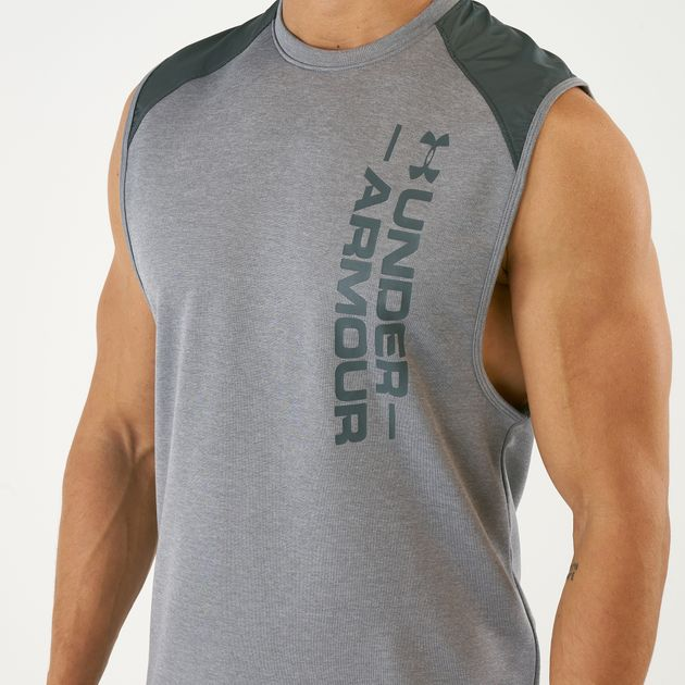 Under Armour Mens Mk1 Terry Sleeveless Running Sport Vest T Shirt Top