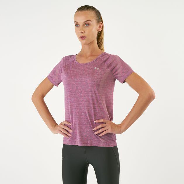 d050fb23b5 Under Armour Women's Vanish Seamless Keyhole Spacedye T-Shirt