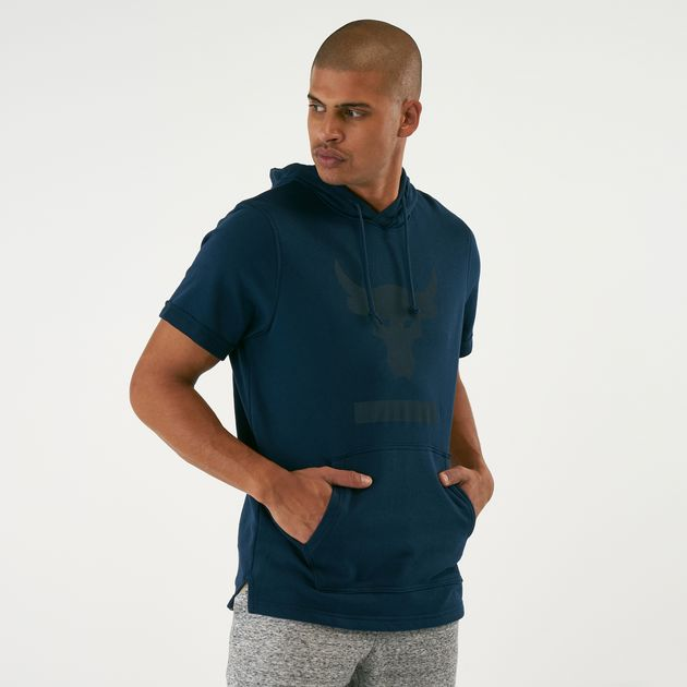 M Under Armour UA Hoody Project Rock Terry Mens Sweatshirt 1355633.001