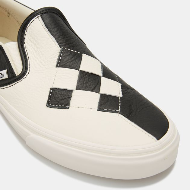 c14c91129 Vans Woven Leather Classic Slip-On Checkerboard Shoe | Sneakers ...