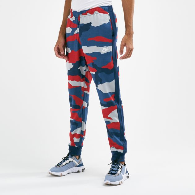 Nike Men's Sportswear Club Camo Jogger Pants