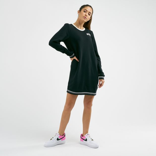 Nike Women's Sportswear Varsity Fleece Long Sleeves Dress