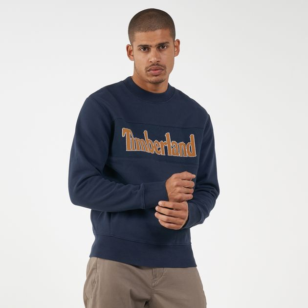 Timberland Men's Connecticut River Heritage Cut and Sew Logo Sweatshirt
