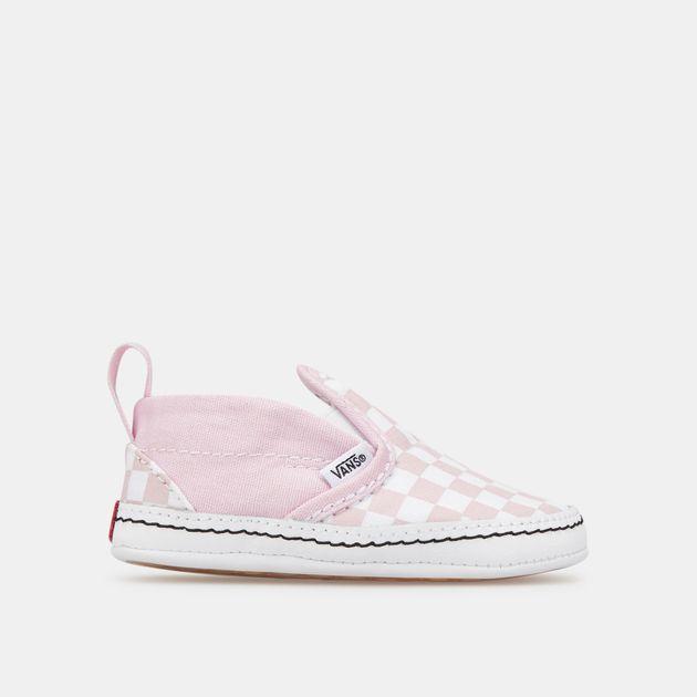 Vans Kids' Checkerboard Slip On V Crib Shoe (Baby and Toddler)