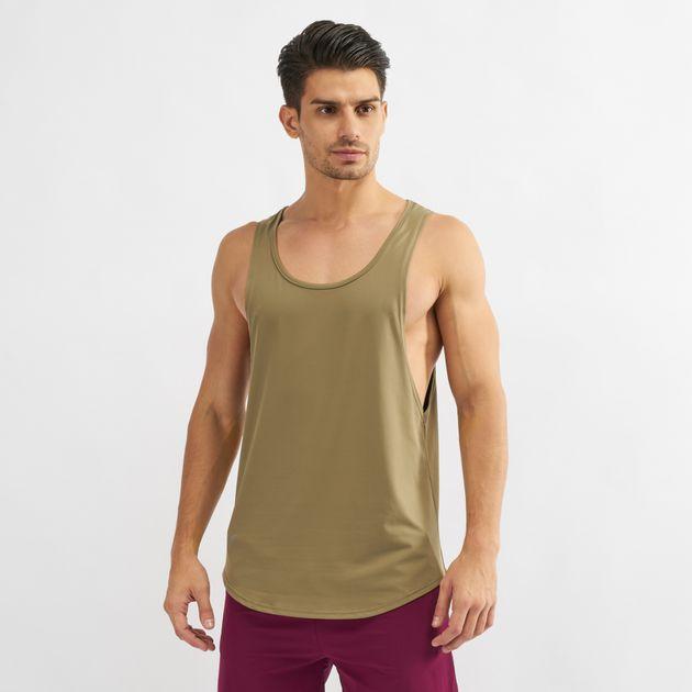 4db847c9ba3cba Shop Green Squat Wolf Muscle Stringer Tank Top