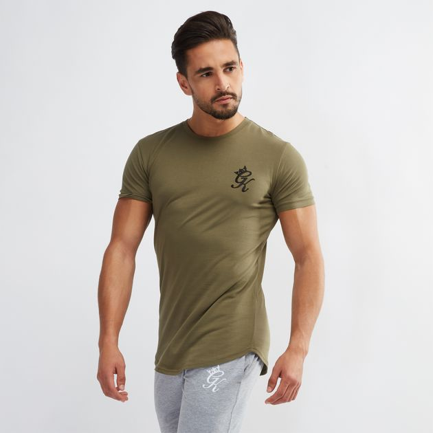 324e0bf16 Shop Green Gym King Longline T-Shirt for Mens by Gym King