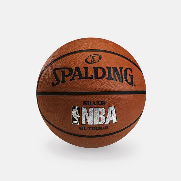 Spalding NBA Silver Size 5 Outdoor Basketball - Orange