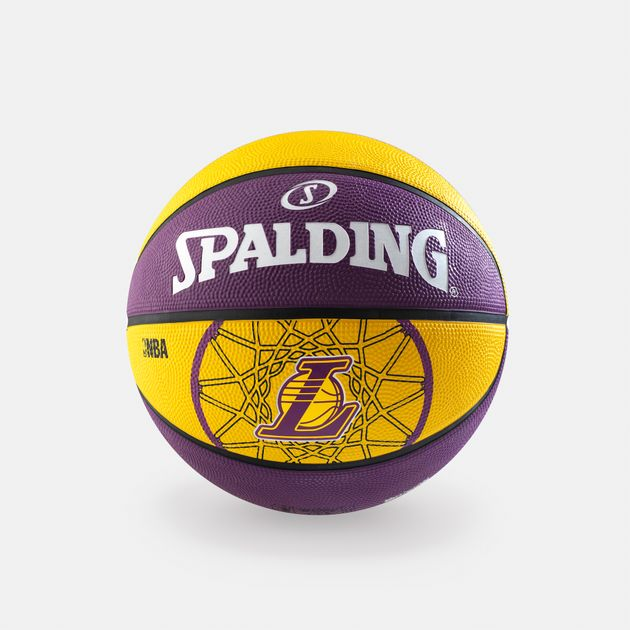 cheap for discount 826a9 6e819 Spalding NBA Los Angeles Lakers Team Size 7 Outdoor Basketball