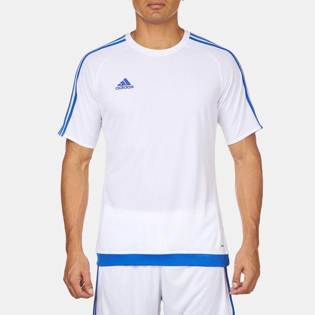Shop White adidas Estro 15 Football T Shirt for Mens by