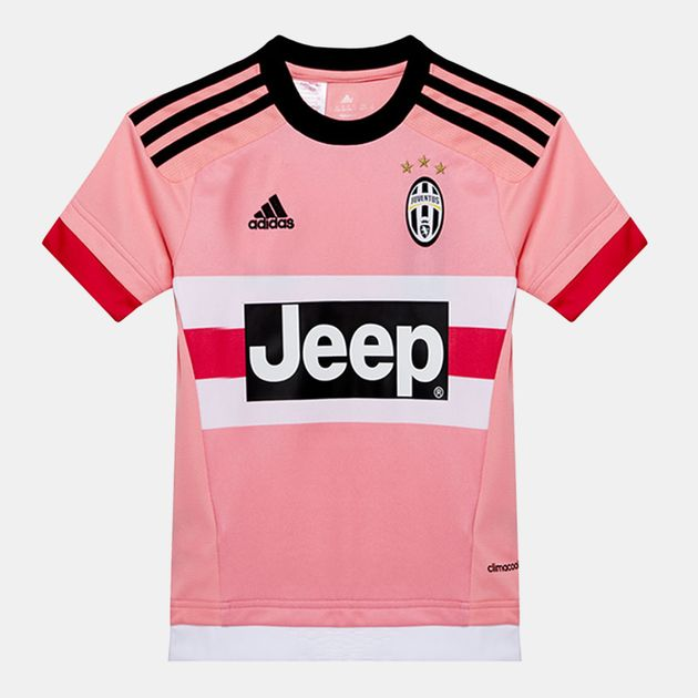 online store 2380d c7537 Shop Pink adidas Juventus Away Replica Player Kids' Jersey ...