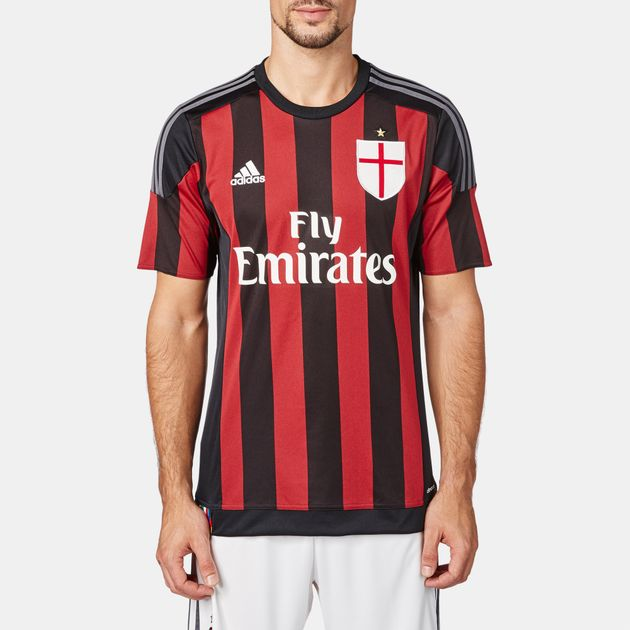 newest ef17e cb7e0 Shop Black adidas A.C Milan Home Jersey for Mens by adidas | SSS
