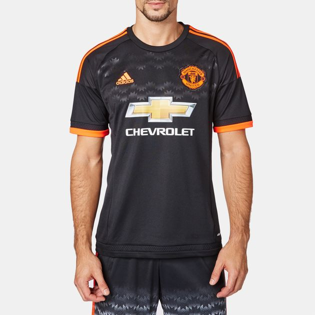 27dbbdcf418 Shop Black adidas Manchester United FC Jersey for Mens by adidas