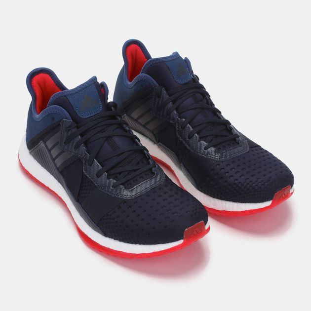 Shop Blue adidas Pure Boost ZG Trainer Shoe for Mens by