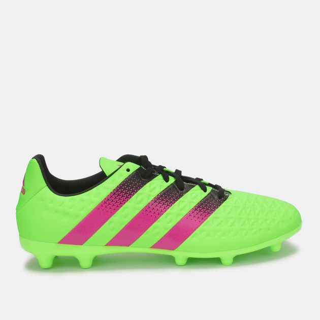 Shop Green adidas Ace 16.3 FGAG Football Shoe for Mens by