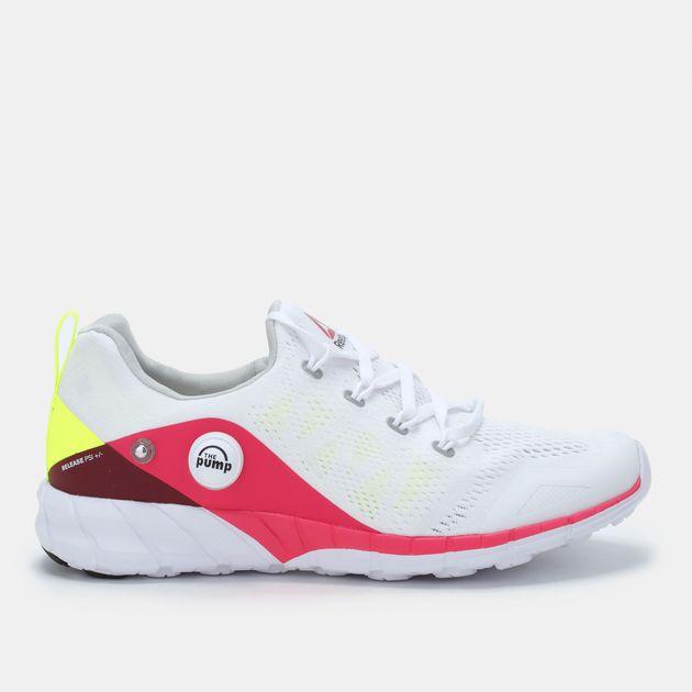 Shop White Reebok ZPump Fusion 2.0 Knit Shoe for Womens by Reebok  f373045b2
