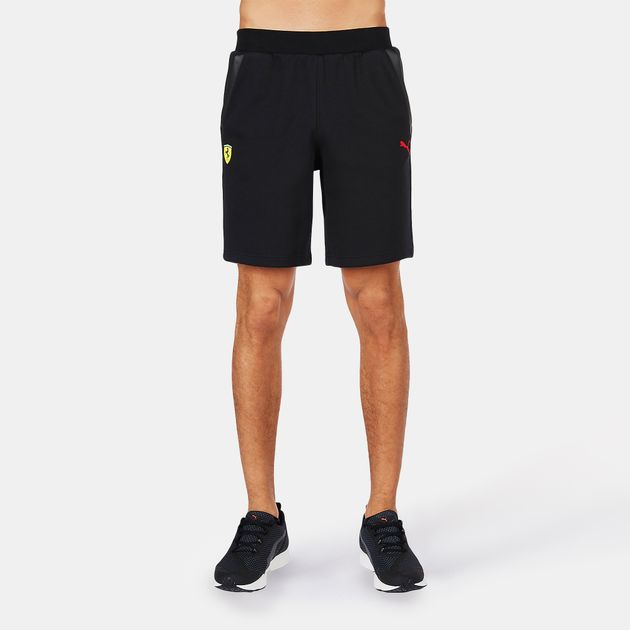 079160c08e Shop Black PUMA Scuderia Ferrari Sweat Bermuda Shorts for Mens by ...