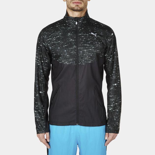Shop Black PUMA NightCat Running Jacket for Mens by PUMA  44bb4c055