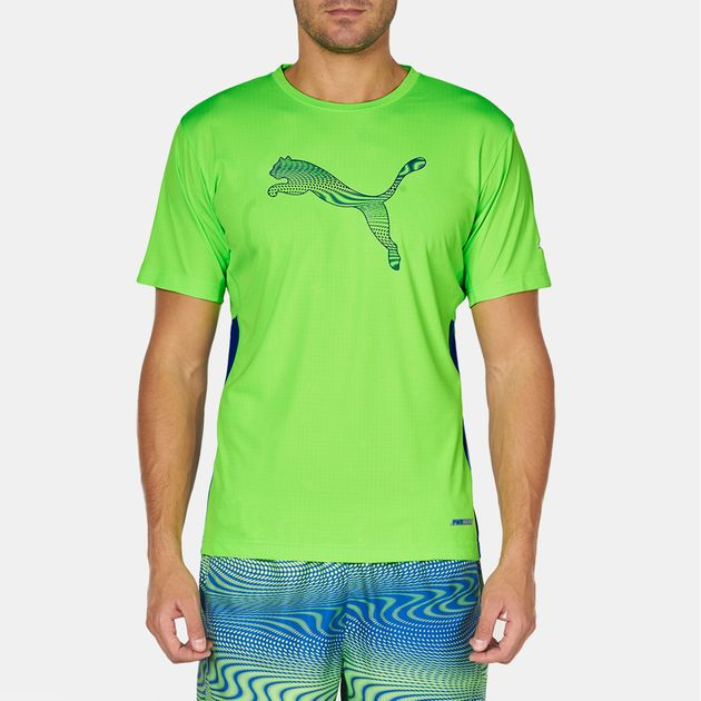 dd1957aba Shop Green PUMA evoTRG PWRCool Graphic T-Shirt for Mens by PUMA | SSS