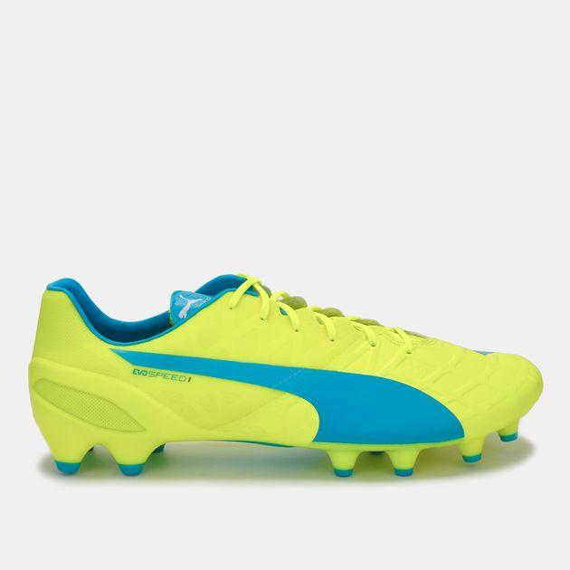 PUMA evoSPEED 1.4 Firm Ground Football Shoe - Yellow