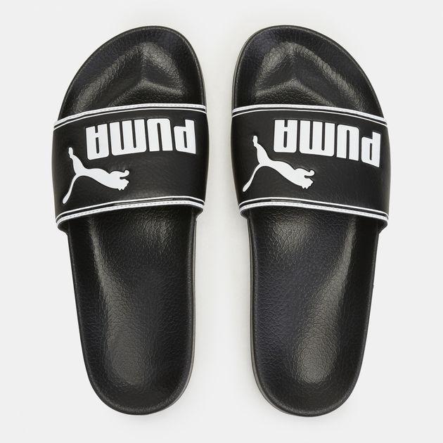 e084eeb8971a Shop Black PUMA Leadcat Slide Sandals for Mens by PUMA
