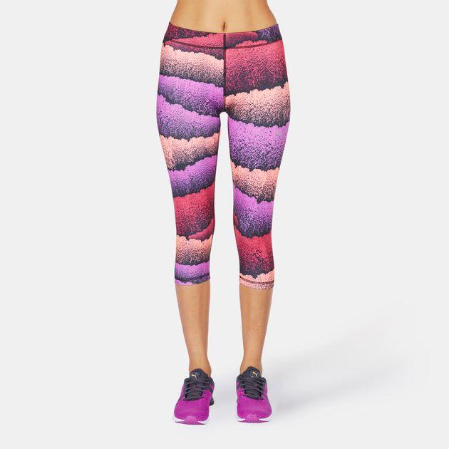 5cb5c87d674222 Shop Black PUMA All Eyes On Me 3/4 Capri Leggings for Womens by PUMA ...